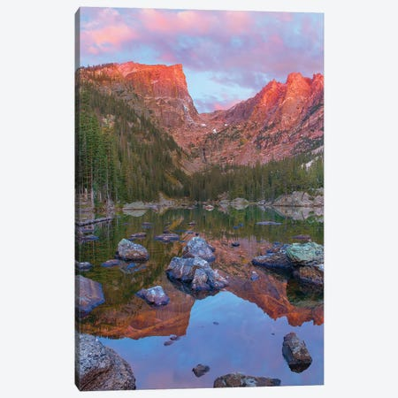 Hallett Peak, Dream Lake, Rocky Mountain National Park, Colorado Canvas Print #TFI1333} by Tim Fitzharris Art Print