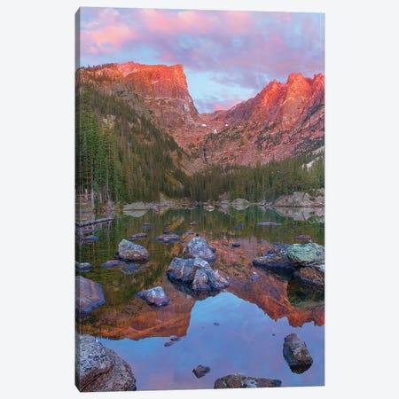 Hallett Peak, Dream Lake, Rocky Mountain National Park, Colorado Canvas Print #TFI1333} by Tim Fitzharris Art Print