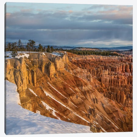 Hoodoos In Winter, Bryce Canyon National Park, Utah Canvas Print #TFI1338} by Tim Fitzharris Canvas Print