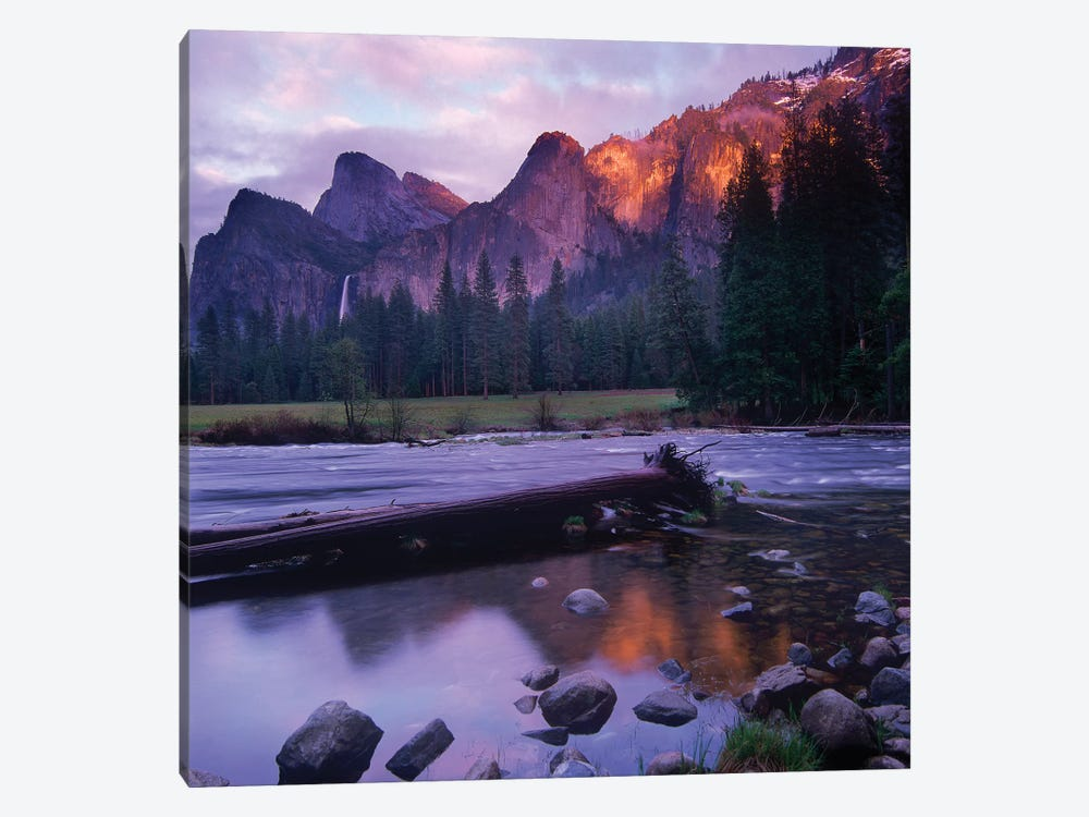 Bridal Veil Falls And The Merced River In Yosemite Valley, Yosemite National Park, California by Tim Fitzharris 1-piece Canvas Art Print
