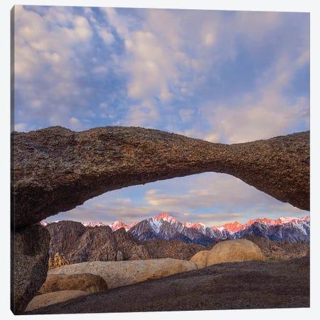 Lathe Arch, Alabama Hills, Sierra Nevada, California Canvas Print #TFI1350} by Tim Fitzharris Art Print