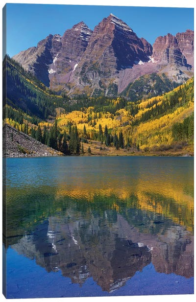 Maroon Bells, Maroon Lake, Colorado Canvas Art Print