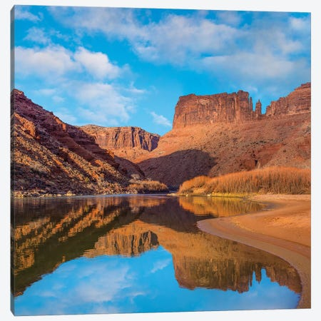 Mat Martin Point And The Colorado River, Arches National Park, Utah Canvas Print #TFI1363} by Tim Fitzharris Canvas Artwork