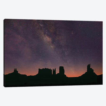 Milky Way And Starry Sky, Monument Valley, Arizona Canvas Print #TFI1366} by Tim Fitzharris Art Print