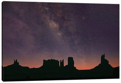 Milky Way And Starry Sky, Monument Valley, Arizona Canvas Art Print