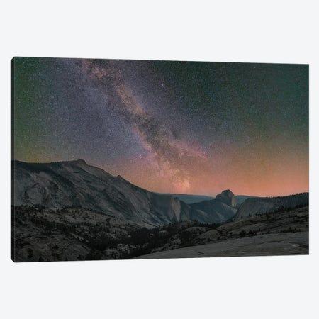 Milky Way Over Half Dome, Yosemite National Park, California Canvas Print #TFI1368} by Tim Fitzharris Canvas Artwork
