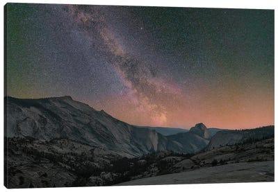 Milky Way Over Half Dome, Yosemite National Park, California Canvas Art Print