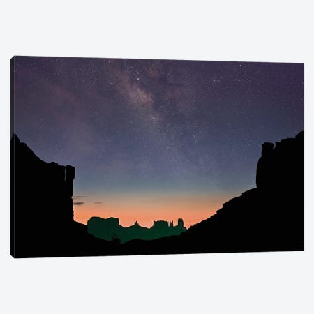 Milky Way Over Monument Valley, Arizona Canvas Print #TFI1369} by Tim Fitzharris Canvas Wall Art