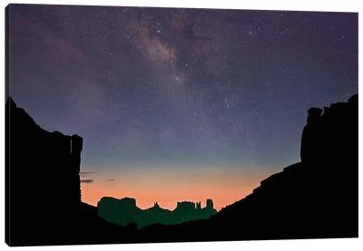 Milky Way Over Monument Valley, Arizona Canvas Art Print