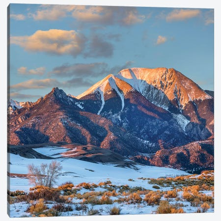 Mount Herard, Great Sand Dunes National Park, Sangre De Cristo Range, Colorado Canvas Print #TFI1377} by Tim Fitzharris Canvas Artwork
