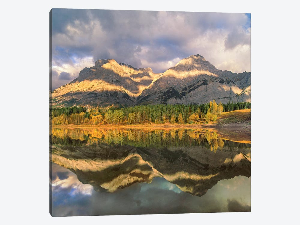 Mount Kidd Reflected In Lake, Alberta, Canada by Tim Fitzharris 1-piece Art Print