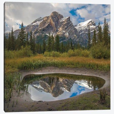 Mount Kidd Reflected In Pond, Kananaskis Country, Alberta, Canada Canvas Print #TFI1381} by Tim Fitzharris Canvas Artwork