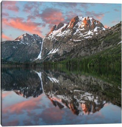 Peak From Silver Lake, Sierra Nevada, California Canvas Art Print