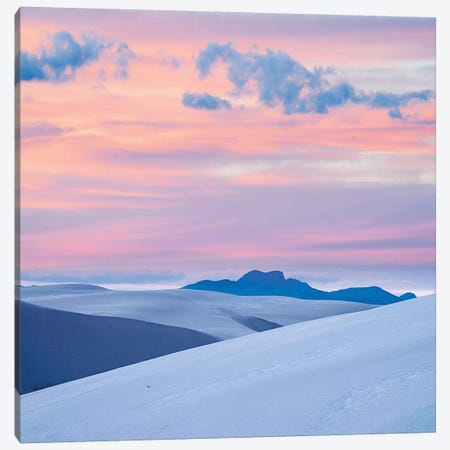 Pink Sunset, White Sands Nm, New Mexico Canvas Print #TFI1406} by Tim Fitzharris Canvas Wall Art