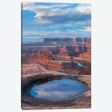 Pool At Dead Horse Point, Canyonlands National Park, Utah Canvas Print #TFI1408} by Tim Fitzharris Canvas Art Print