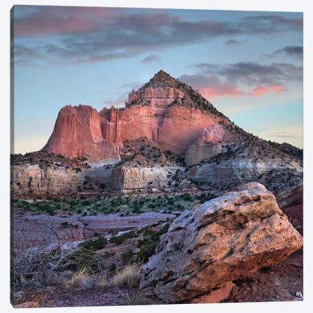 Pyramid Mountain Sunrise, Red Rock State Park, New Mexico Canvas Print #TFI1410} by Tim Fitzharris Canvas Wall Art
