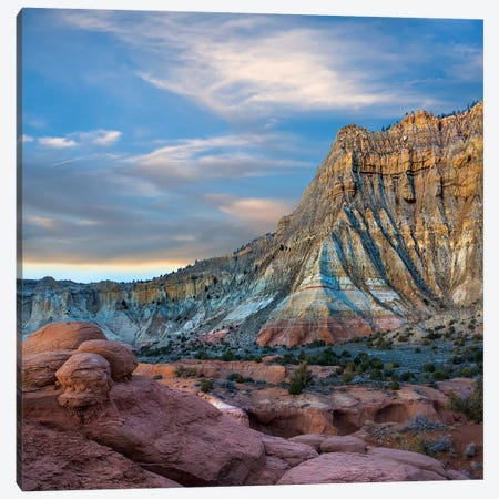 Sandstone Cliff, Kodachrome Basin State Park, Utah Canvas Print #TFI1435} by Tim Fitzharris Canvas Print