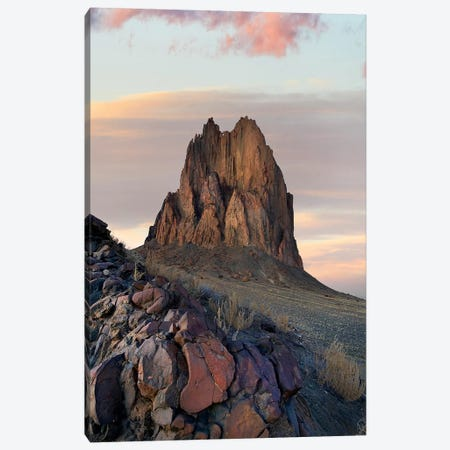 Ship Rock Sunset, New Mexico Canvas Print #TFI1441} by Tim Fitzharris Canvas Art Print