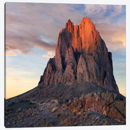 Ship Rock, Basalt Core Of Extinct Volcano, New Mexico Canvas Print #TFI1442} by Tim Fitzharris Art Print