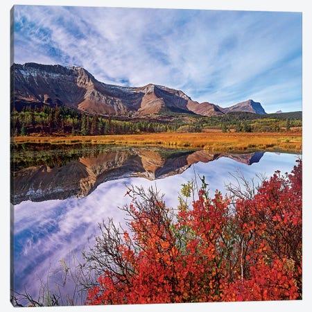 Sofa Mountain Reflecteion, Waterton Lakes National Park Canvas Print #TFI1449} by Tim Fitzharris Canvas Art Print