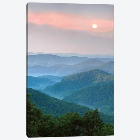 Sunrise Over Pisgah National Forest, North Carolina Canvas Print #TFI1455} by Tim Fitzharris Canvas Print