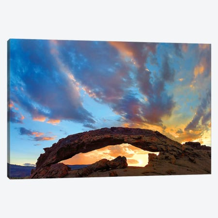 Sunset Arch, Grand Staircase-Escalante Nm, Utah Canvas Print #TFI1456} by Tim Fitzharris Art Print