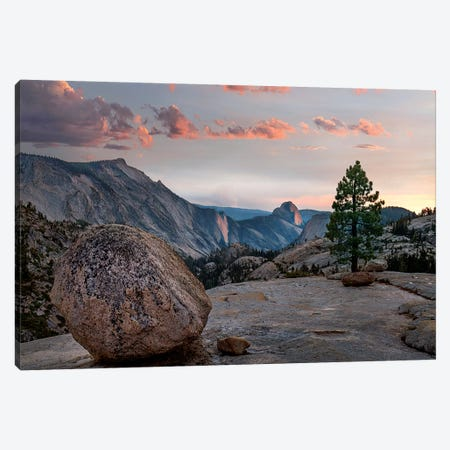 Sunset On Half Dome From Olmsted Pt, Sierra Nevada, Yosemite National Park, California Canvas Print #TFI1457} by Tim Fitzharris Canvas Print