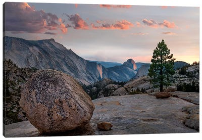 Sunset On Half Dome From Olmsted Pt, Sierra Nevada, Yosemite National Park, California Canvas Art Print