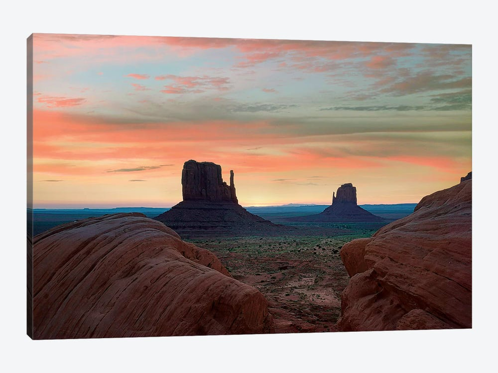 The Mittens At Sunset, Monument Valley, Arizona by Tim Fitzharris 1-piece Canvas Art
