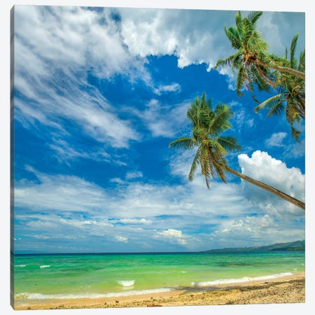 Tropical Beach, Siquijor Island, Philippines Canvas Print #TFI1465} by Tim Fitzharris Canvas Wall Art
