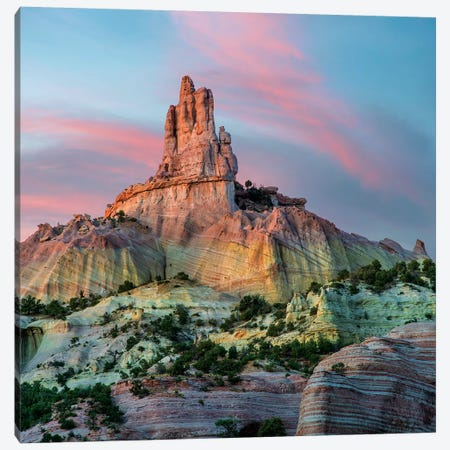 Twilight At Church Rock, Red Rock State Park, New Mexico Canvas Print #TFI1470} by Tim Fitzharris Canvas Artwork