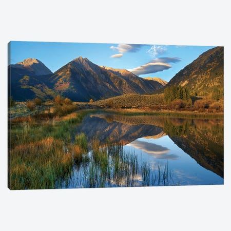 Twin Peaks, Twin Lakes, Colorado Canvas Print #TFI1471} by Tim Fitzharris Canvas Artwork