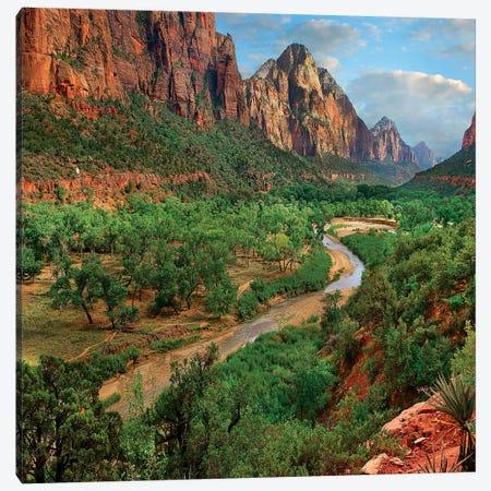 Virgin River, Zion National Park, Utah Canvas Print #TFI1472} by Tim Fitzharris Canvas Art