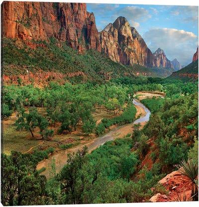 Virgin River, Zion National Park, Utah Canvas Art Print