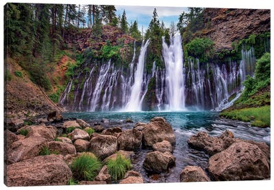 Waterfall, Mcarthur-Burney Falls Memorial State Park, California Canvas Art Print