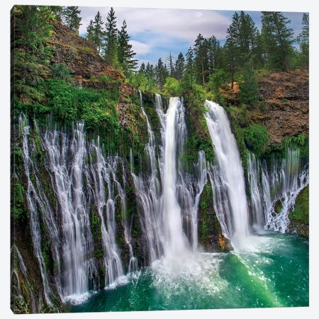 Waterfall, Mcarthur-Burney Falls Memorial State Park, California Canvas Print #TFI1477} by Tim Fitzharris Canvas Art Print