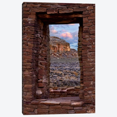 Window On South Mesa, Pueblo Del Arroyo, Chaco Culture National Historical Park, New Mexico Canvas Print #TFI1487} by Tim Fitzharris Canvas Art