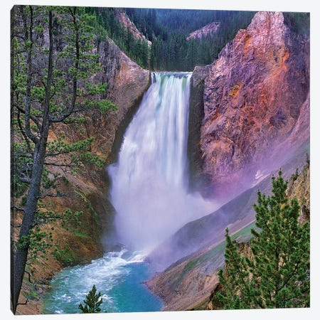 Yellowstone Falls, Yellowstone National Park, Wyoming Canvas Print #TFI1492} by Tim Fitzharris Canvas Wall Art