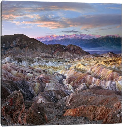 Zabriskie Point, Death Valley National Park, California Canvas Art Print