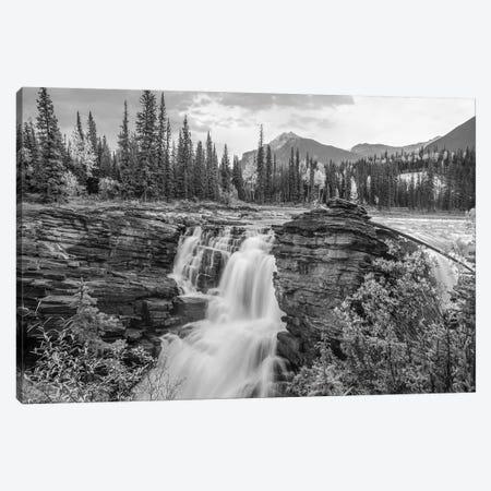 Athabasca Falls and Mount Fryatt, Rocky Mountains, Jasper National Park, Alberta, Canada Canvas Print #TFI1511} by Tim Fitzharris Canvas Art Print