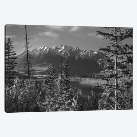 Athabasca River and Colin Range, Rocky Mountains, Jasper National Park, Alberta, Canada Canvas Print #TFI1512} by Tim Fitzharris Canvas Print