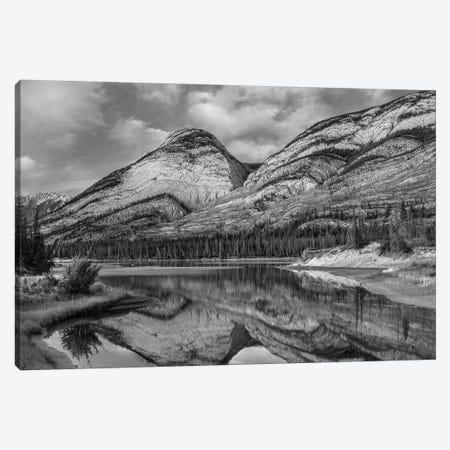 Athabasca River, Colin Range, Jasper National Park, Alberta, Canada Canvas Print #TFI1513} by Tim Fitzharris Canvas Art Print