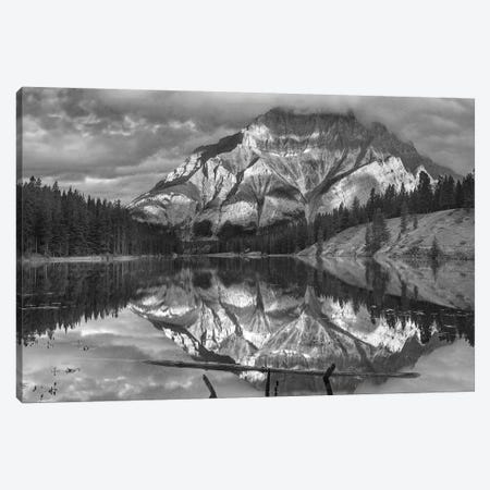Cascade Mountain and Johnson Lake, Banff National Park, Alberta, Canada Canvas Print #TFI1560} by Tim Fitzharris Canvas Artwork