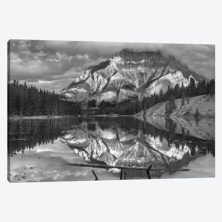 Cascade Mountain and Johnson Lake, Banff National Park, Alberta, Canada Canvas Print #TFI1560} by Tim Fitzharris Canvas Artwork