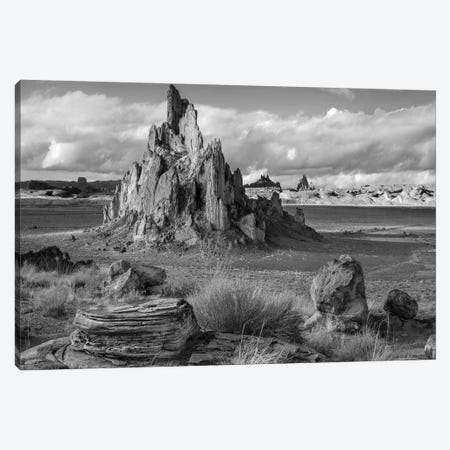Church Rock, volcanic neck formation with view into Monument Valley, Arizona Canvas Print #TFI1572} by Tim Fitzharris Art Print
