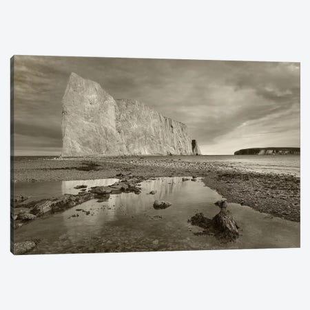 Coastline and Perce Rock, a limestone formation, Quebec, Canada Canvas Print #TFI1576} by Tim Fitzharris Canvas Wall Art