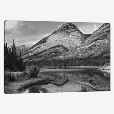 Colin Range, Athasca River, Jasper National Park, Alberta, Canada Canvas Print #TFI1577} by Tim Fitzharris Canvas Wall Art