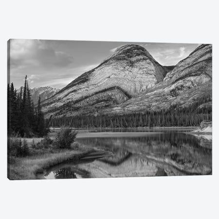 Colin Range, Athasca River, Jasper National Park, Alberta, Canada Canvas Print #TFI1577} by Tim Fitzharris Canvas Wall Art