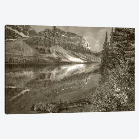 Crowfoot Mountains and Bow Lake, Icefields Parkway, Rocky Mountains, Alberta, Canada Canvas Print #TFI1586} by Tim Fitzharris Art Print