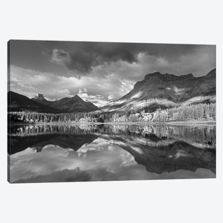 Fortress Mountain and Mt Kidd at Wedge Pond, Kananaskis Country, Alberta, Canada Canvas Print #TFI1601} by Tim Fitzharris Canvas Print